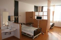 ゆとりのある病室
